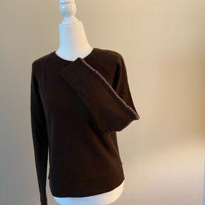 Neiman Marcus brown cashmere sweater